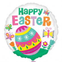 "Happy Easter Big Egg Foil Balloon (18"") 1pc"